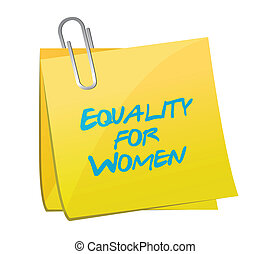equality for women memo illustration design over a white...