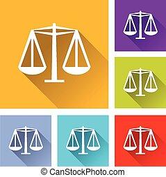 illustration of flat design set icons for equality