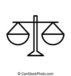 equality scale justice human rights day, line icon design