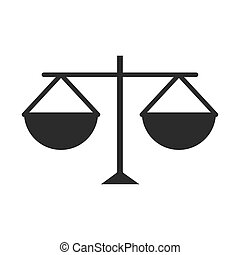 equality scale justice human rights day, silhouette icon design