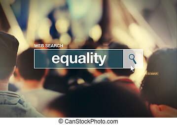Equality - web search bar glossary term