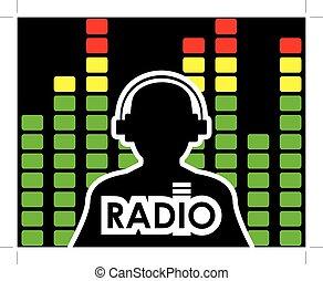 equalizador, conceito, rádio