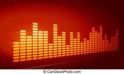 equalizador, gráfico, música