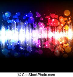equalizador, música, onda