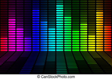 equalizador, sinal, arco íris