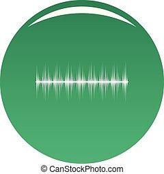 equalizador, vetorial, verde, digital, ícone