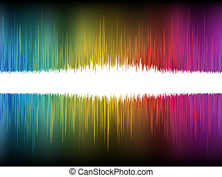 Equalizer Abstract Sound Waves. EPS 8 vector file included