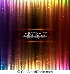 equalizer, abstrakt, farverig, baggrund, lysende