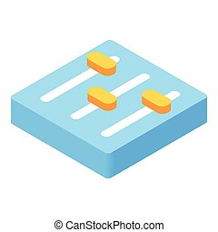 Equalizer button isometric 3d icon
