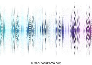 Equalizer digital. color vector ill