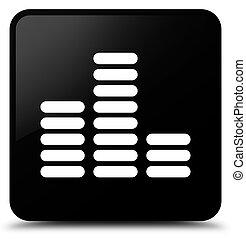 Equalizer icon black square button