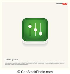 Equalizer icon Green Web Button