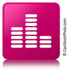 Equalizer icon pink square button