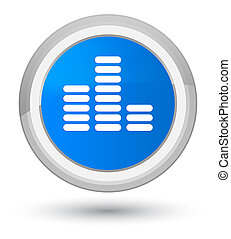 Equalizer icon prime cyan blue round button