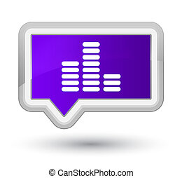 Equalizer icon prime purple banner button