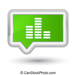 Equalizer icon prime soft green banner button