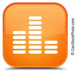 Equalizer icon special orange square button