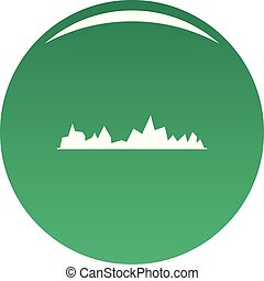 Equalizer icon vector green
