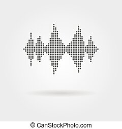 equalizer icon with shadow