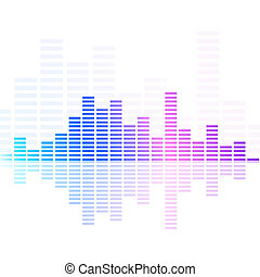 equalizer - illustration of colorful musical bar showing...