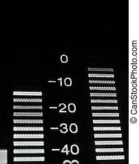 equalizer, macro, speler, uitzenden, video, shot-display