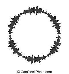 equalizer music sound wave circle vector symbol icon design.