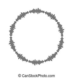 equalizer music sound wave circle vector symbol icon design.