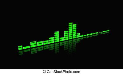 audio spectrum animation - equalizer or audio spectrum...