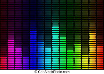 equalizer, regenboog, signaal