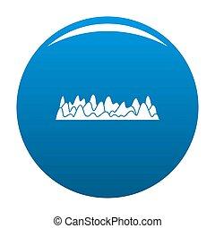Equalizer sound vibration icon blue circle isolated on white...