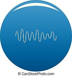 Equalizer wave sound icon blue vector