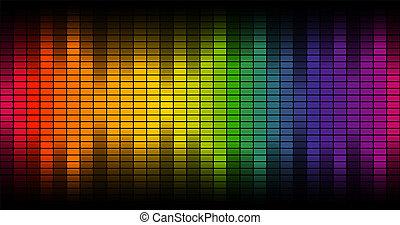 equalizzatore, colorito, -, fondo, digitale, endlessly