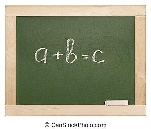 equation on blackboard