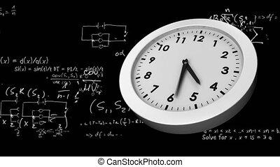 Equations and a clock