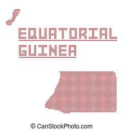 Equatorial Guinea Africa Dot Map - A dot map of Equatorial...