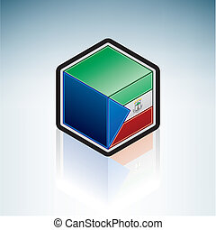 Equatorial Guinea { Africa } - Flag of Republic of...