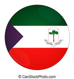 Equatorial Guinea button with flag