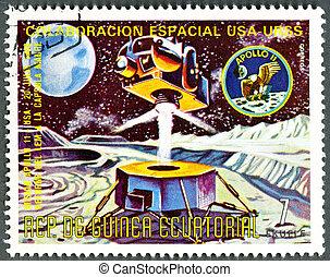 EQUATORIAL GUINEA - CIRCA 1975: A stamp printed by...