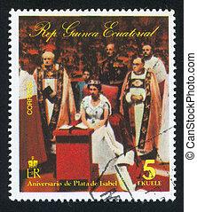 Coronation of Isabel II - EQUATORIAL GUINEA - CIRCA 1976:...