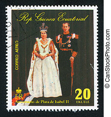 Isabel II - EQUATORIAL GUINEA - CIRCA 1976: stamp printed by...