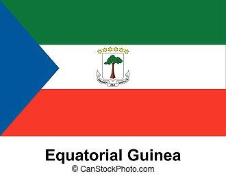 Equatorial Guinea - Vector image of flag Equatorial Guinea
