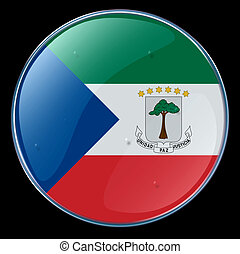 Equatorial Guinea Flag Button