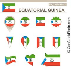 Equatorial Guinea Flag Collection, 12 versions