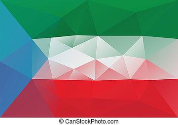 Equatorial Guinea flag - triangular polygonal pattern