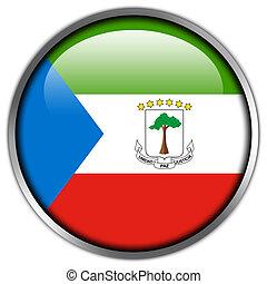 Equatorial Guinea Flag glossy button