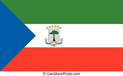 Equatorial Guinea flag image for any design in simple style