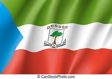 Equatorial Guinea flag. National patriotic symbol in...