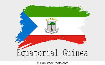 Equatorial Guinea flag on white background