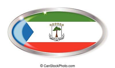 Equatorial Guinea Flag Oval Button