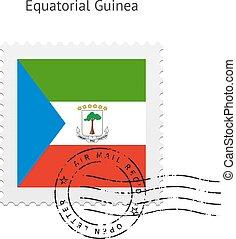Equatorial Guinea Flag Postage Stamp. - Equatorial Guinea...